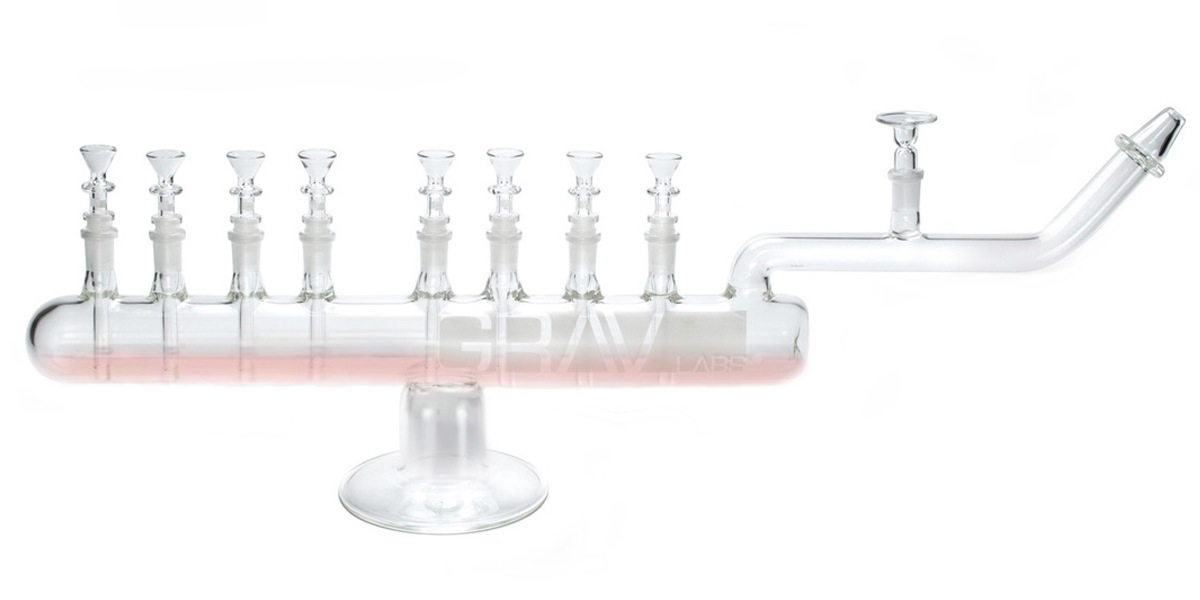 Bong menorah from Grav Labs