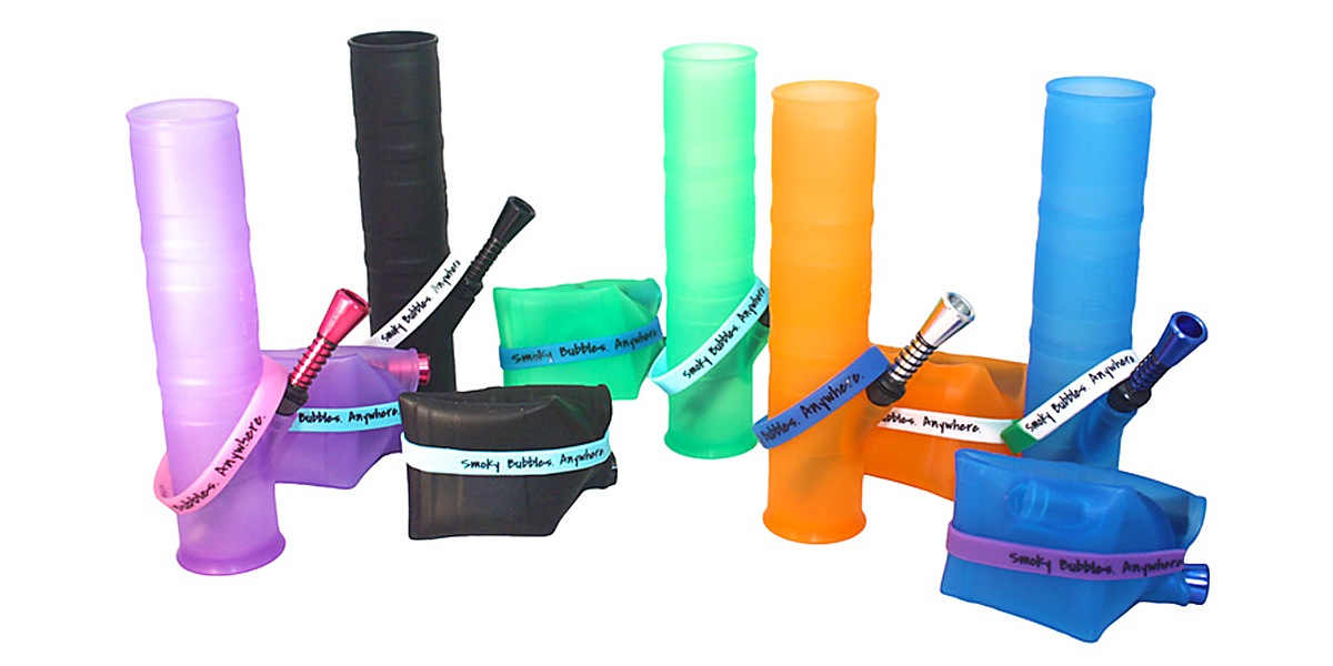 Roll-uh-bowl is a portable, packable water pipe!
