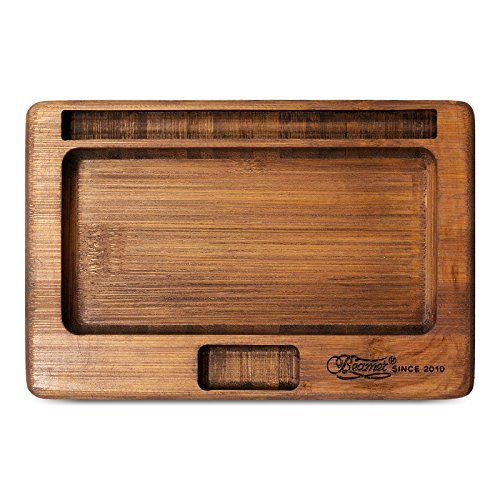 Wood rolling tray available on Amazon makes a great gift for stoners and smokers who love weed gadgets