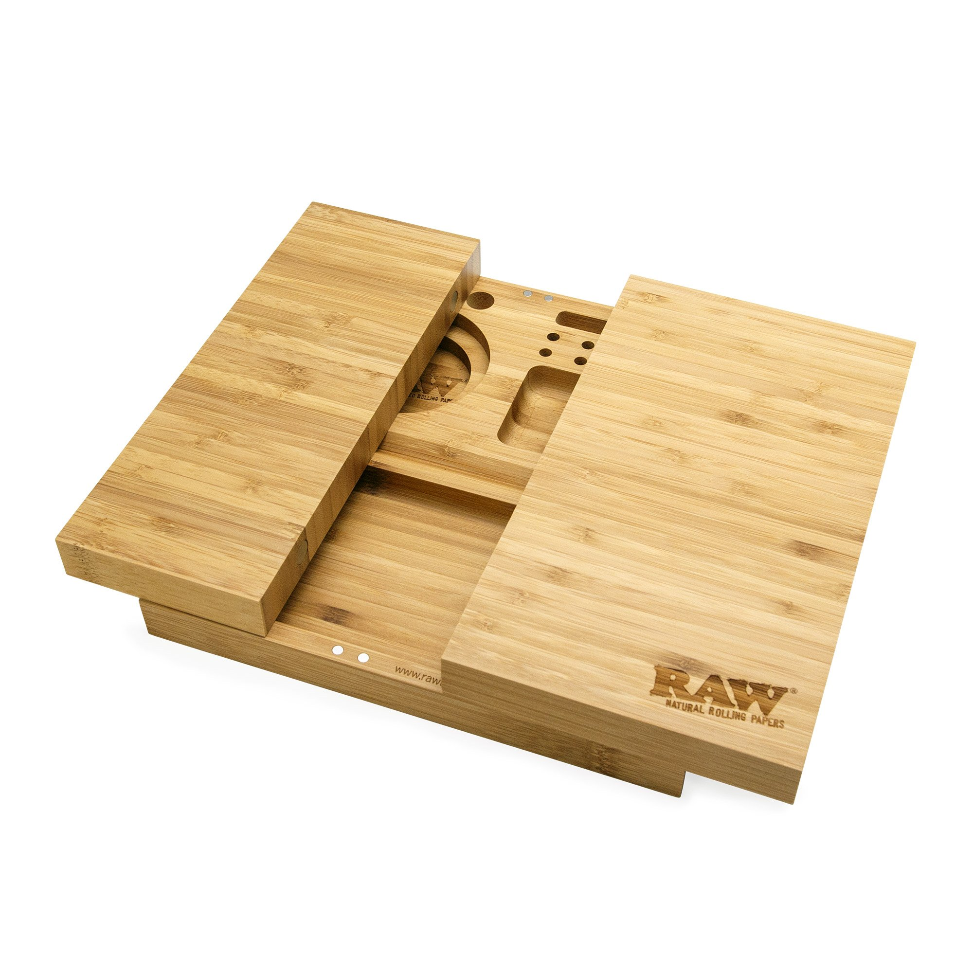 Tri Foldable Wood Rolling Tray Weedgadgets