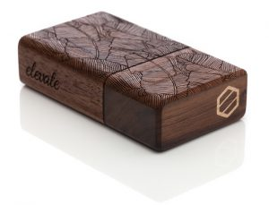 Awesome Luxury Wood Dugout With Etched Leaf Design from Elevate