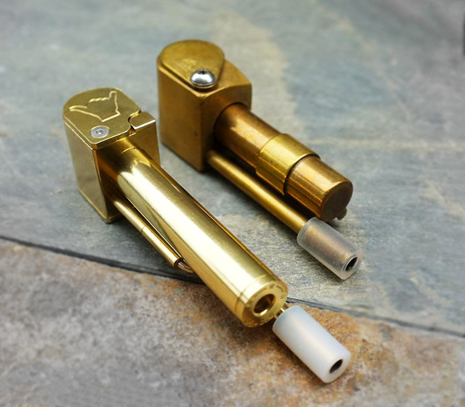 Super Shaka brass steamroller smoking pipe as compared to the original Proto Pipe