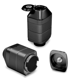 This electric grinder can be reconfigured into a storage case!