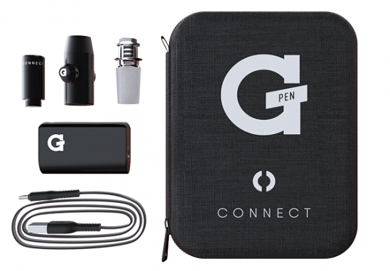 The G-Pen Connect kit comes with everything you need to convert a regular bong into a complete dab rig e-nail vaporizer