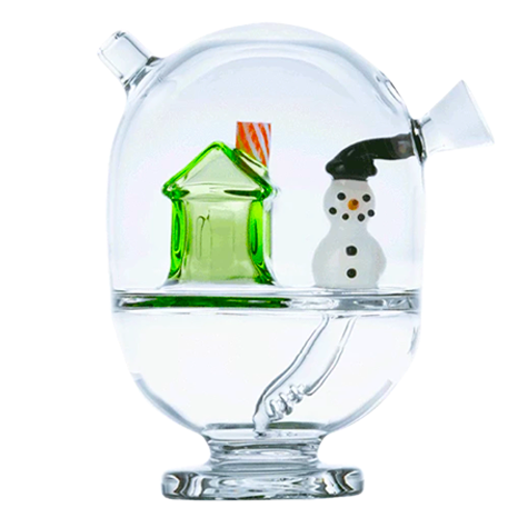 Holiday themed glass blunt bubbler is an amazing and festive smoking centerpiece.
