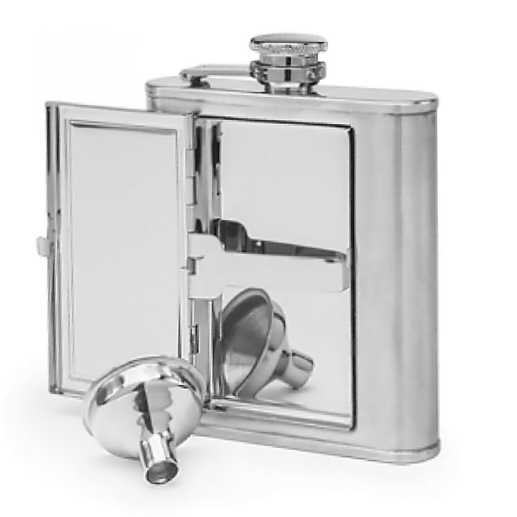This flask makes the perfect stealthy stash with a clever hidden compartment