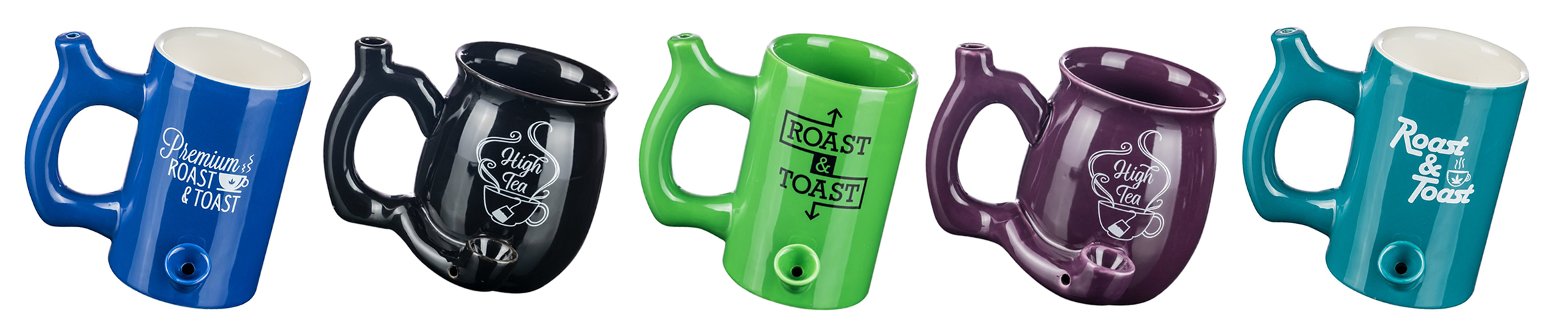 Grab this tea and coffee cup pipe and you can wake and bake right from your tea cup or mug, multiple colors to choose from.