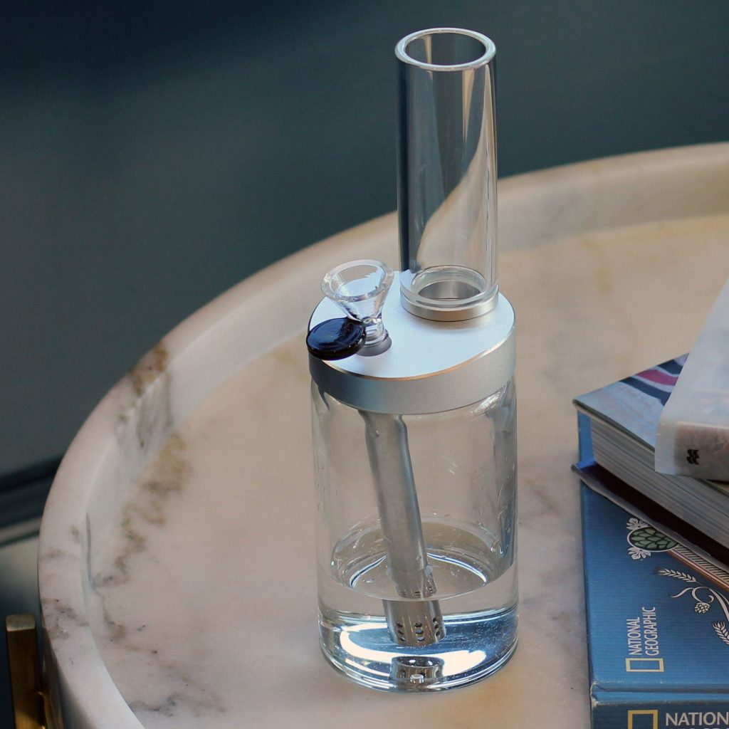 This beautifully designed modern glass water pipe looks great and works even better.