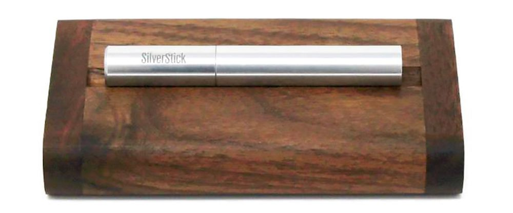 This cool wood dugout made from rich black walnut wood holds a filtered one-hitter pipe, a unique and sophisticated weed smoking accessory